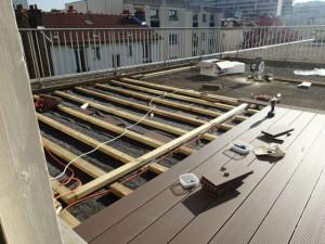 Installation de terrasse par Maxi Services